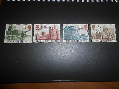 Great Britain: 1988 Complete set of 4 Castles #1230-1233, great value !!!