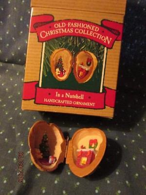1987 Hallmark Old Fashioned Christmas Collection In a Nutshell Ornament with Box