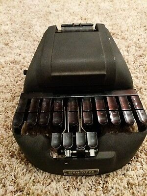 Vintage stenograph machine with hard case from the Stenotype Company