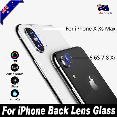 iPhone XS Max XR X 8 Plus Camera Lens Tempered Glass Screen Protector For Apple