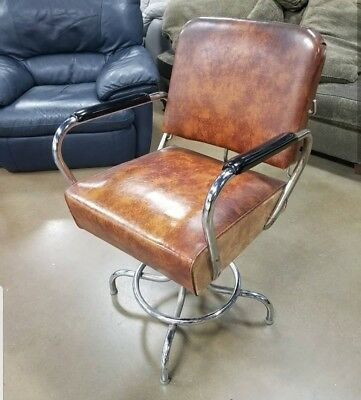 Rad Vintage Barber Chair - Pickup In STL or Chicago Shop Brown Well Made