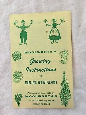 "Vintage Woolworth's Growing Instructions for Bulb or plants, 6"" X 4"""
