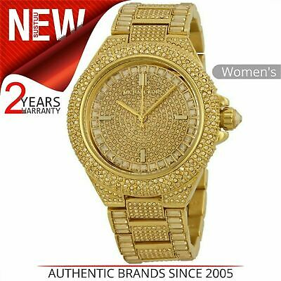 b36bfa83da98 Michael Kors Camille Ladies Watch│Gold Crystal Pave Dial│Gold Plated Band│ MK5720