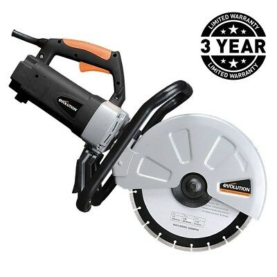 Corded Portable Cutoff Powered Concrete Stone Brick Saw 15 Amp Variable Blade