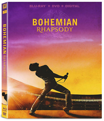 Bohemian Rhapsody (Blu-ray, DVD + Digital) • NEW • Queen