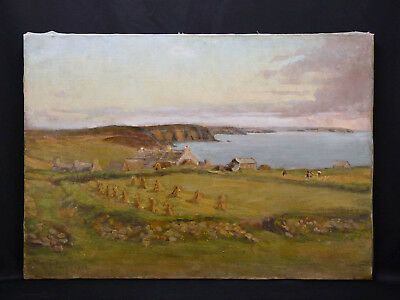 View Brittany Oil on canvas, signed and dated 1935 Dim: 65 cm x 92 cm