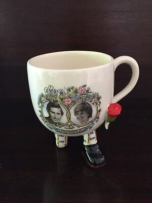 Carlton Ware Walking Ware Royal Wedding Mug Diana Charles 1981