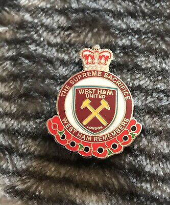 West Ham Supporter Enamel Badge - The Supreme Sacrifice -  Wear With Pride