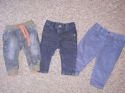 X3 Pairs Baby Boys Next Jeans Trousers 6-9 Months Bundle cords denim skinny