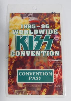 KISS Signed Autograph Laminate Backstage Pass by All 4 Paul Stanley, Gene, +