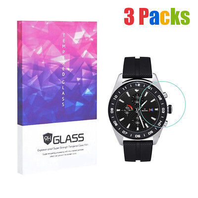 For LG Watch W Tempered Glass Screen Protector 9H Hardness Clear(3 Packs)