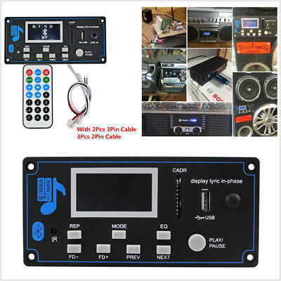 Car 12V Bluetooth Audio Receive MP3 Decoder Board with Recording Audio Amplifier