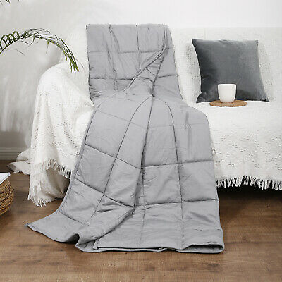 """Weighted Blanket For Adults & Children 60 x 80"""" 20 lbs Queen Size Reduce Stress"""