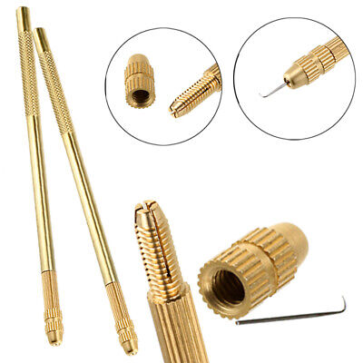 Bronze Ventilating Knotting Holder and Needles Kit for Making Lace Wig