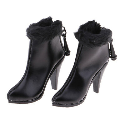 1//6 Scale Action Figure High Heel Shoes Ankle Boots for 12/'/' Female Figure B