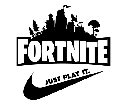 Fortnite Just Play It Vinyl Iron on Transfer 7'' High Quality