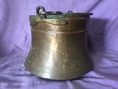Beautiful Antique Copper & Brass Cooking Pot, Planter. Plant Pot. Quality