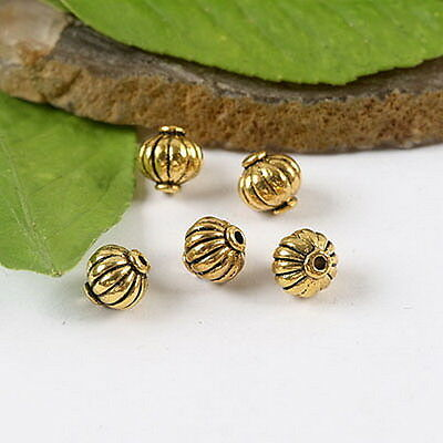 150pcs Dark Gold Tone Mini Rond Texture Spacer Bead h2048
