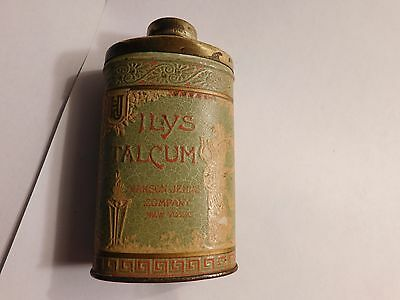 Ilys Talcum Talc Powder Tin ~Rare 1906 ~ Serial #24165~Hanson-Jenks Co. New York