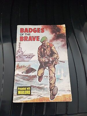 Gift Booklet - Badges Of The Brave - Warlord #51 - D.c. Thomson - 1975