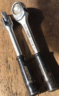 "Vintage Australian Sidchrome 1/2"" Drive Ratchet Driver and Swivel Bar."