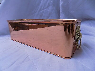 Copper Planter With Brass Handles
