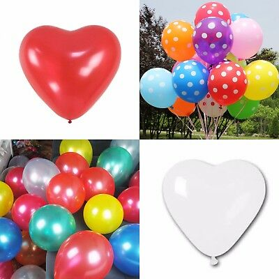 """10"""" Red/White Heart Shape Balloons Valentines, Mix Metallic Decorations baloons"""