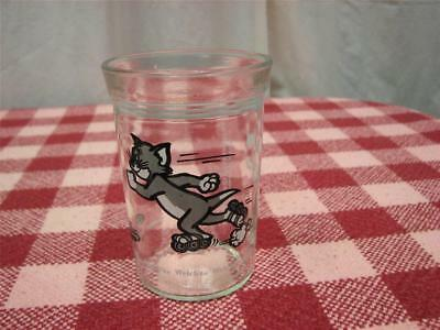Welch's 1990 jelly glass, Tom & Jerry,  Tom Roller Skating,