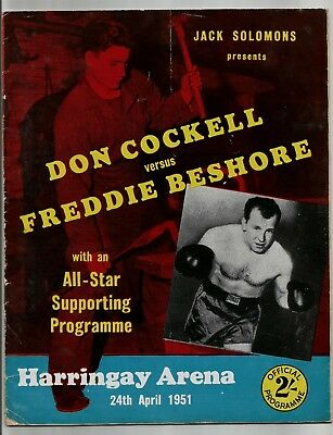 Boxing Programme , Don Cockell  V  Freddie Beshore , 24/4/1951.