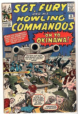 Sgt. Fury and His Howling Commandos #10, Very Good - Fine Condition