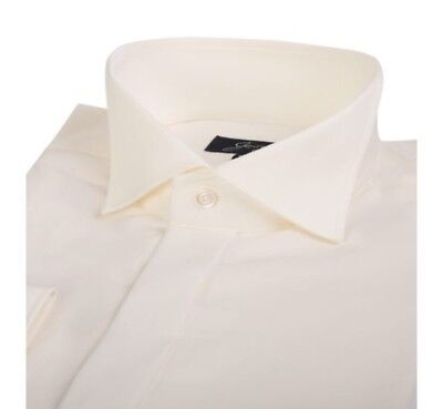 Boys Wing Collar Formal Ivory Dinner Shirt Collar Age 7/8 Years 12 Inch Wedding