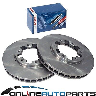 2 Front Disc Brake Rotors + Bosch Pads fit GU Y61 Patrol 1997~2016 Wagon Ute 4x4
