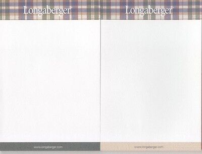 0 ship 2 Longaberger Woven Traditions Plaid Note Pads 4 x 6 50 sheets each New