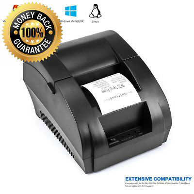 USB Thermal Receipt Printer 58mm TEROW Mini Portable Label with High Speed...