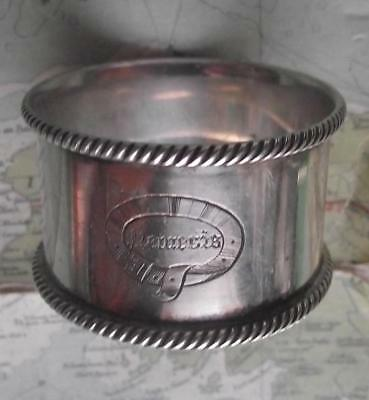 c1900 Original Emmigrant Ship SS NEMESIS silver plated Napkin Ring No 38