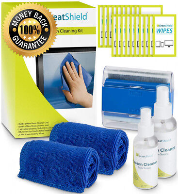 GreatShield Screen Cleaning Kit with 2 Bottle Solution (60ml and 120ml), 2...