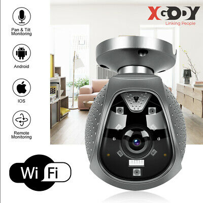 Xgody 1080P Hd Telecamera Ip Camera Wireless Esterno Infrarossi Ir Wifi Tf It