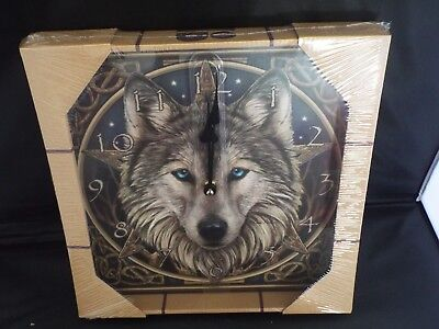 Stunning Lisa Parker Celtic Wolf Head Picture Clock