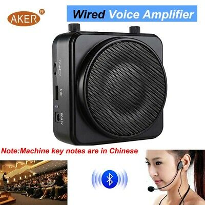 AKER 22W Portable Voice Amplifier Booster Wired TF USB Play For Teaching Guide