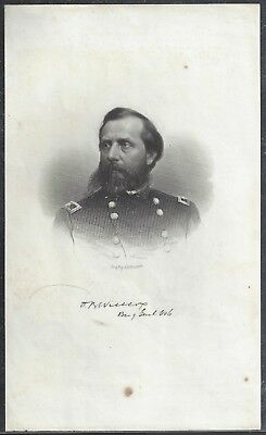 Civil War Engraving from a Booklet Plate of MOH Winner Orlando B Wilcox