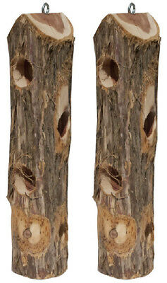 2-Pack Pine Tree Farms Hornbeam Log Jammer Feeder For Suet Plugs 5000 Made in US