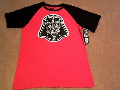 Boy's Youth Star Wars Red w/Black Short Sleeve Graphic Patch T- Shirt Size 2X/18