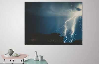 COLORFUL RAINY WEATHER  NATURE ART picture Canvas home wall choose your size