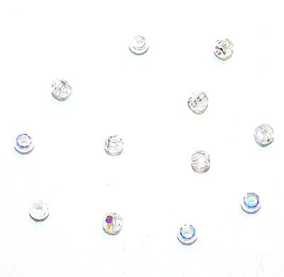 SCR117 Crystal AB Faceted Round 2mm Tiny Swarovski Crystal Beads 12pc