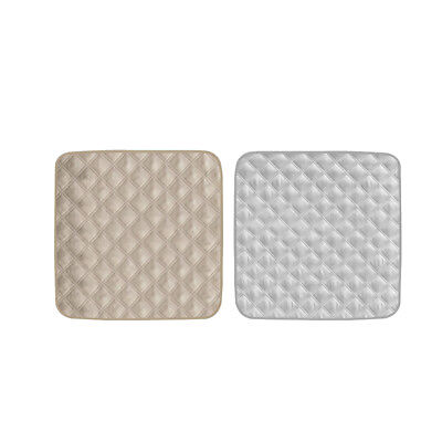 2Pcs Gray&Beige Waterproof Bed Seat Protector Pad For Incontinence
