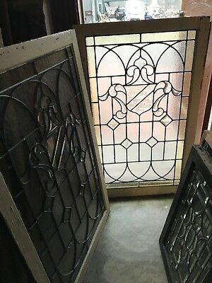 Sg 2614 2 Available Price Separate Antique Textured Glass Landing Window