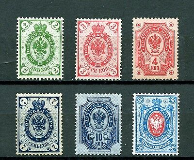 Finland #47-52 (FI448) (6) Imperial Arms of Russia, M,, H, FVF, CV$78.00