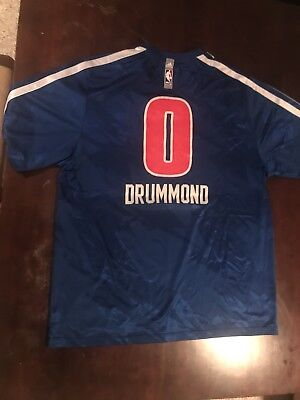 7094a4470720 ANDRE DRUMMOND DETROIT Pistons Game Worn Signed Jersey Adidas Rev30 ...