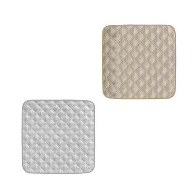 2Pcs Gray&Beige Waterproof Couch Car Seat Protector Pad For Incontinence