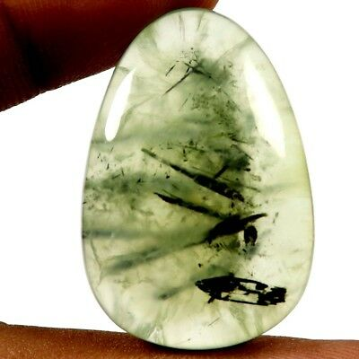 52.85 cts Natural Awesome Designer Prehnite Gemstone Fancy Shape Loose Cabochon